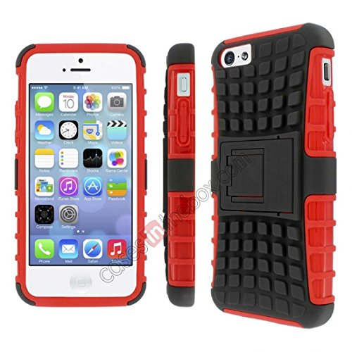 iphone-5c-case-iphone-5c-armor-cases-dual-layer-hybrid-hard-soft-protective-case-by-alvi-red-armor-c