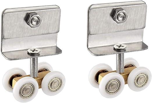 Polea para cuarto de baño puerta corredera rueda colgante de cobre ...