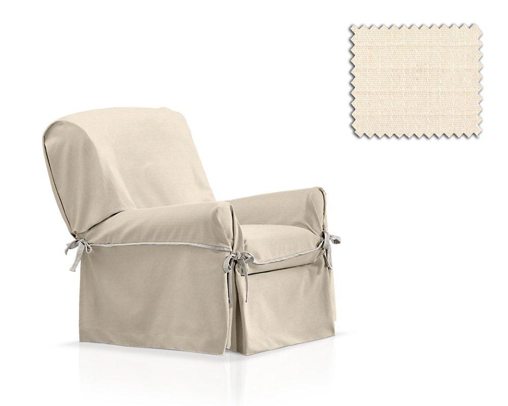 JM Textil Sessel-Husse mit Schleifen Tika Größe 1 Sitzer (von 80cm bis 120cm), Einzelfarbe