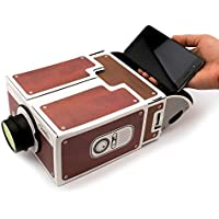 Yorkshire Portable DIY Cardboard Smart Phone Projector, Smartphone Cinema In A Box, Fits All Phones.