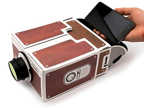 Theater No Projector Lens (Yorkshire Portable DIY Cardboard Smart Phone Projector, Smartphone Cinema In A Box, Fits All Phones.)