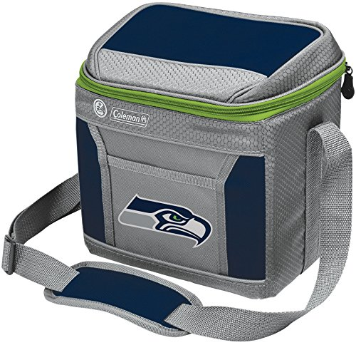 Coleman NFL Soft-Sided Insulated Cooler Bag, 9-Can Capacity with Ice, Seattle Seahawks