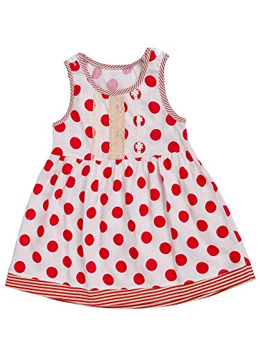 Aikobaby Baby Girls Dress Clothes Sleeveless Polka Dot Printed Skirt Summer Dress for Toddler Girl
