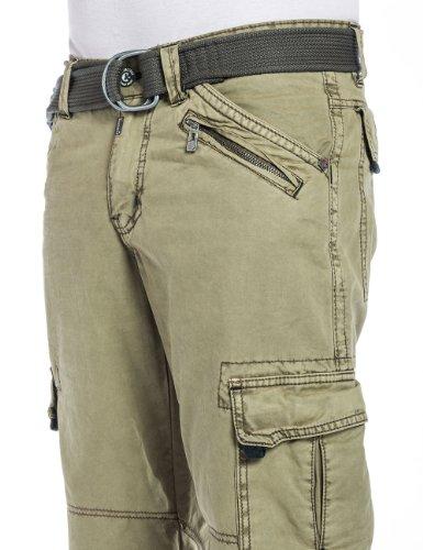 Green Pantalones 26 0155 Timezone Hombre Para Khaki xYREwOnqw