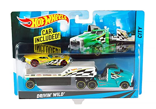 Hot Wheels City Drivin' Wild Toy Car Set ()