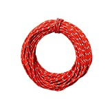 15M(50ft) Reflective Nylon Cord Woven for High Strength Safety Rock Climbing Rope Abseiling Rope Climbing Cord Climbing Equipment Rescue Parachute Rope