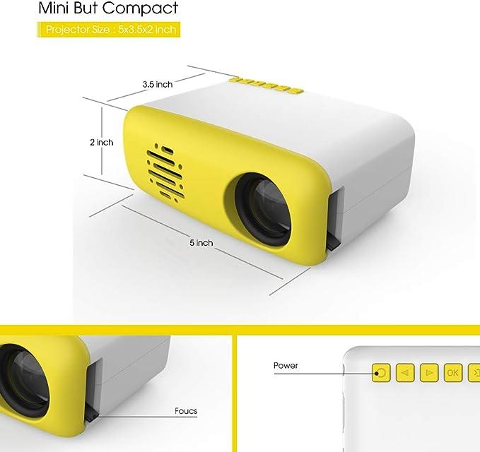 3T6B Mini Proyector para niños, Portátil Proyectors de Cine en ...
