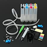 INKARENA 4 Color Continuous Ink supply system Diy Ciss Tank Kit Work for PG-240 CL241 PG210 211 PG245 CL246 PG40 CL41 Cartridge PIXMA MX492 MX490 MG3022 MG2522 MG2920 MG2420 MG2520 Inkjet Printer