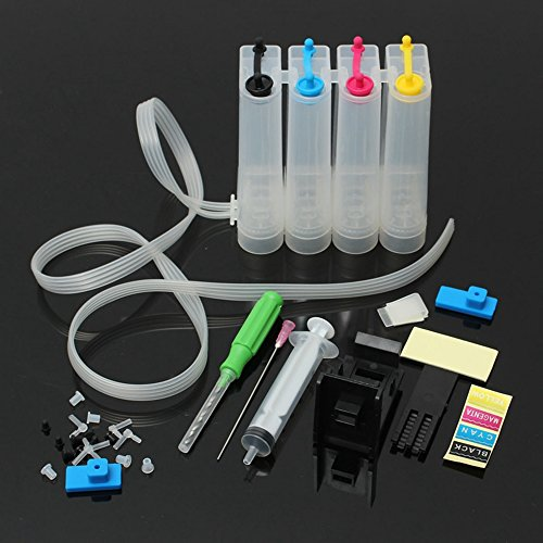 Empty Continuous Ink Supply System for HP 21 22 60 61 56 57 74 75 99 98 97 96 95 94 93 92 901 300 122 343 101 Inkjet Cartridge - Empty Color Inkjet