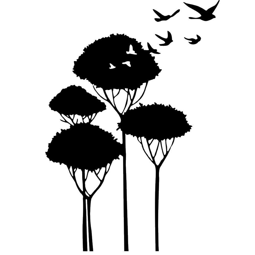 Wiederverwendbare Schablone Vögel in Baum , A3, A4, A4, A4, A5 und größere Größen, Kinderzimmer Vogel 105, Selbstklebende Folienschablone, S Größe - 70 x 100 cm, 27.6 x 39.4 in B07M8Y53B5   Realistisch  af75c5