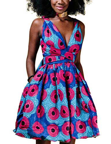 - HUHHRRY One Shoulder Mini Dress Women Summer Short Sleeve Floral Printed Loose Bandage Dresses