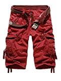 KLJR-Women Office Short Sleeve Business One Button Blazer Jacket Red US 38
