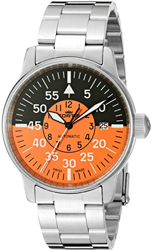 Fortis Men's 595.11.13 M Flieger Cockpit Automatic Analog Automatic-Self-Wind Silver Watch