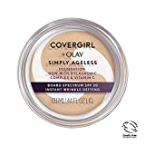 COVERGIRL & Olay Simply Ageless Instant Wrinkle Defying Foundation Buff Beige 0.4 Ounce Pot, Foundation Plus Titanium Dioxide Sunscreen (packaging may vary)