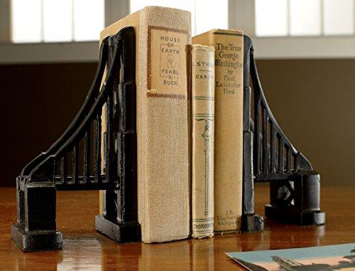 Cast Iron Bookends - KINDWER Set of Cast Iron Bridge Bookends