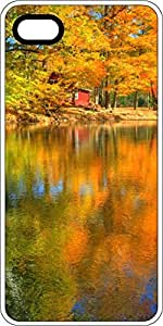 Autumn Fall Colors Reflecting In Lake White Rubber Decorative iPhone 6 Plus Case by lolosakes
