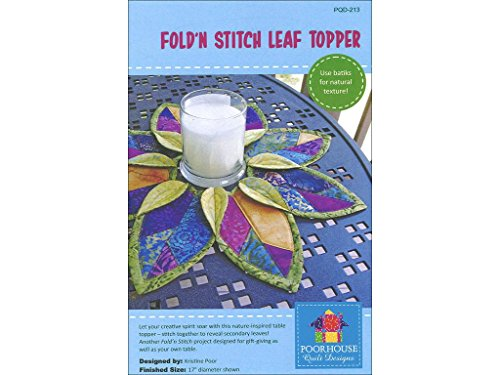 Poorhouse Quilt Designs Topper Ptrn Fold'n Stitch Leaf - Pattern Wreath