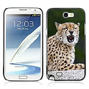 Hot Style Cell Phone PC Hard Case Cover // V0000793 Cheetah Animal Pattern //Samsung Galaxy Note 2 N7100