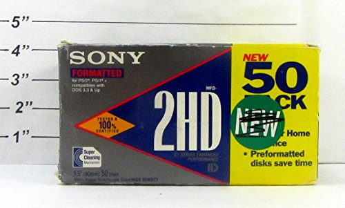 Sony Formatted MFD-2HD 3.5'' Double Sided High Density Micro Floppy Disk, Pack of 45 by Sony