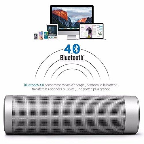 Altavoces LED Luces Bluetooth ELEGIANT Wireless V.4.1 Altavoz Inalámbrico Hi-Fi Estéreo Dual Subwoofer Función NFC USB Batería Recargable para Ordenadores Portátiles Tablet PC Netbooks Android Plata