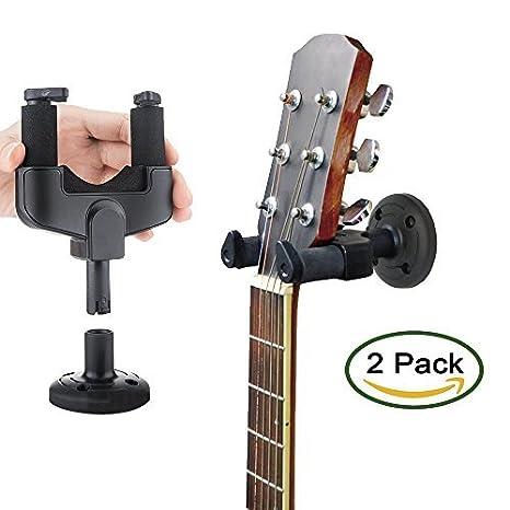JTDEAL Colgador de Pared para Guitarra, Automático Cierre Ganchos de la Pared Soporte para Guitarras Acústicas, Eléctricas, Bajos, Banjo, Mandolin Etc, ...