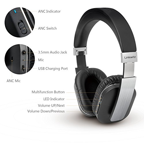 linkwitz active noise cancelling bluetooth headphones. Black Bedroom Furniture Sets. Home Design Ideas