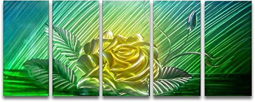 Metal Wall Art Modern Abstract Flower Contemporary  Decor