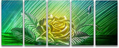Metal Wall Art Modern Abstract Flower Contemporary Decor
