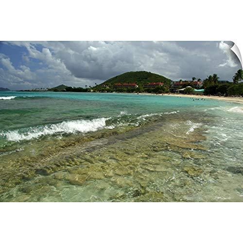 - CANVAS ON DEMAND Cindy Miller Hopkins Wall Peel Wall Art Print Entitled US Virgin Islands, St. Thomas, St. John Bay, Sapphire Beach Resort 18