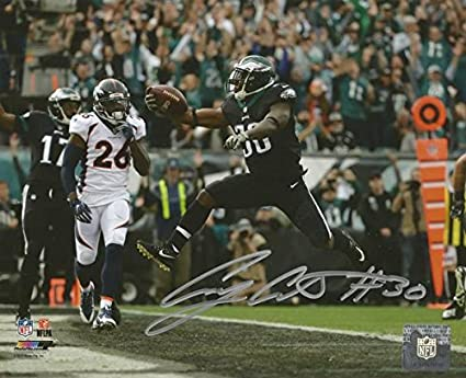 Image Unavailable. Image not available for. Color  Eagles Corey Clement 3-Touchdown  Game Autographed ... ca1bf68f9