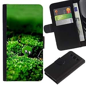 iBinBang / Flip Funda de Cuero Case Cover - Naturaleza verde musgo Agua - Samsung Galaxy S3 III I9300