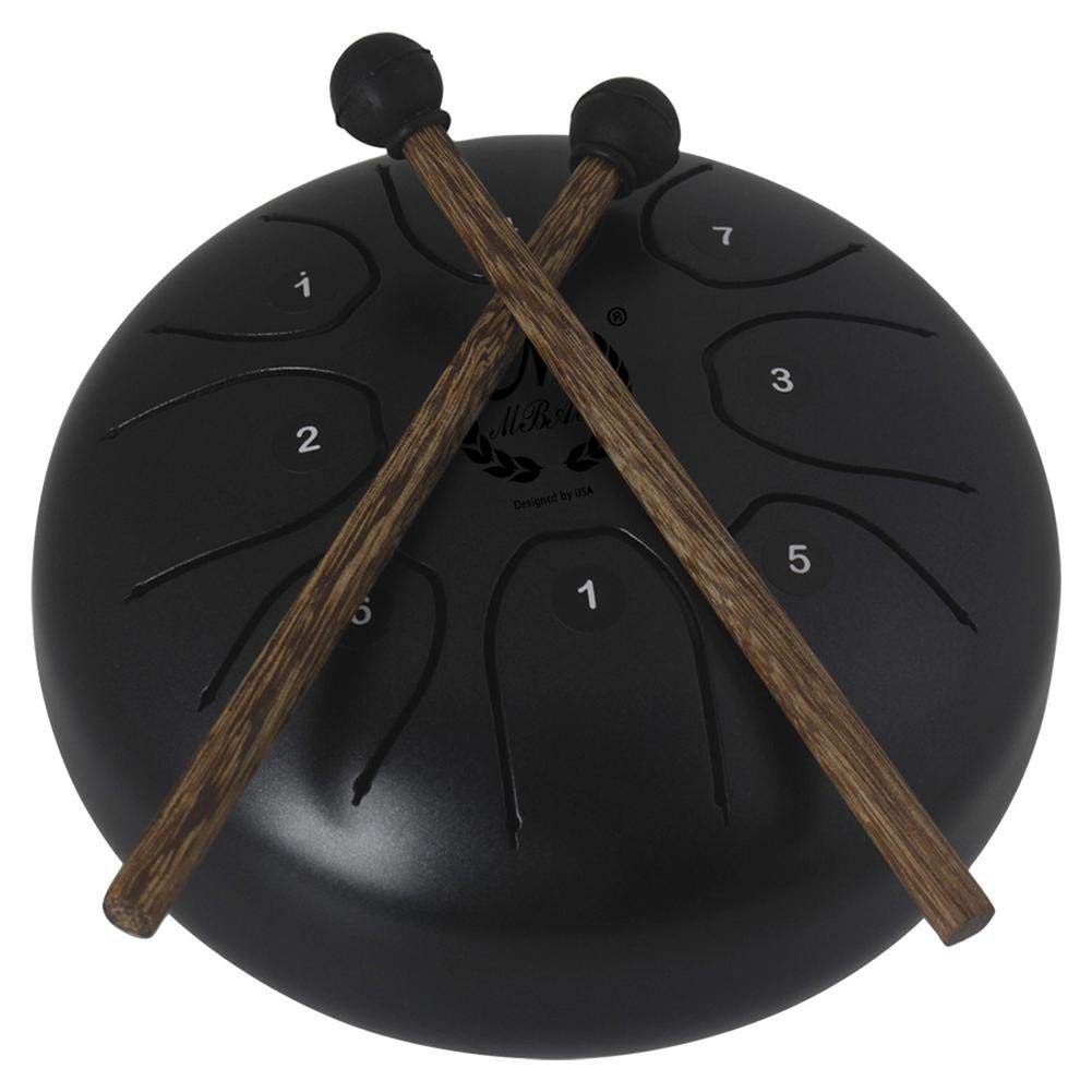 Lijuan Qin Tongue Drum Steel Percussion Hang Drum with Padded Travel Bag and Rubber Malletes for Personal Meditation, Yoga, Zen, Sound Healin by Lijuan Qin (Image #8)