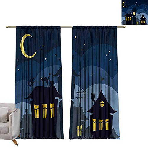 zojihouse Halloween Thermal Insulated Room Blackout Curtains 62