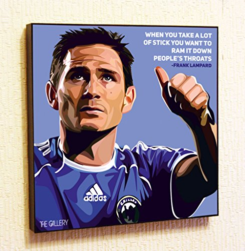 - Frank Lampard Chelsea Soccer Football Decor Motivational Quotes Wall Decals Pop Art Gifts Portrait Framed Famous Paintings on Acrylic Canvas Poster Prints Artwork (10x10