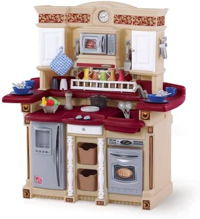 Step2 LifeStyle PartyTime Play Kitchen | Durable Kids Kitchen Playset with Play Food Set | 33 Toy Accessories Included