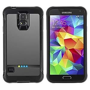 "Pulsar iFace Series Tpu silicona Carcasa Funda Case para Samsung Galaxy S5 V , Informática minimalistas luces metal cepillado"""