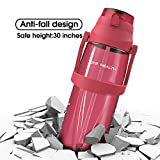 TOYE HEALTH Motivational Water Bottle with Time