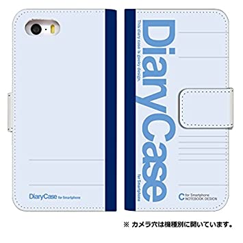 43362b6258 スマホケース 手帳型 アイフォンse 手帳型ケース 8056-B. 大学ノートブルー iphone5