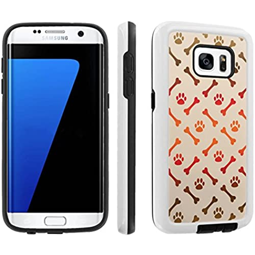 [Galaxy S7] [5.1 Screen] Armor Case [Skinguardz] [White/Black] Shock Absorbent Hybrid - [Bones Paws] for Samsung Galaxy S7 / GS7 Sales