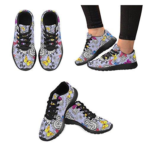 Scarpa Da Running Da Donna Di Interestprint Da Jogging Leggera Sportiva Da Passeggio Sneaker Da Atletica Leggera Con Farfalle Multi 2