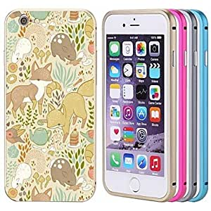 iPhone 6 compatible Graphic/Metallic/Special Design/Novelty Bumper Frame , Rose