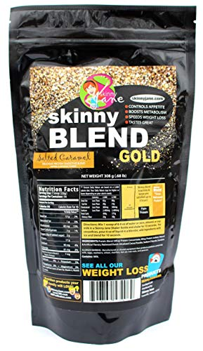 Sale! - Skinny Blend Gold! Best Tasting Protein Shake for Women, Delicious Smoothie - Weight Loss - Low Carb - Diet Supplement - Weight Control - Appetite Suppressant (15 Servings, Salted Caramel)