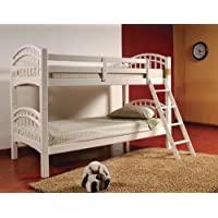 Twin Over Twin Wood Bunk Bed - White Finish