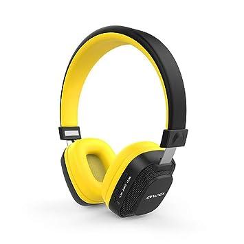 Auriculares Inalámbricos De La Moda A760bl Auriculares Bluetooth Bass Pesado con La Luz De Destello Reducción De Ruido Sonido Envolvente Estéreo 3D,Yellow: ...