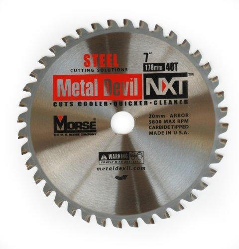 MK Morse CSM740NSC Metal Devil NXT Circular Saw Blade, 7-Inch Diameter, 40 Teeth, 20mm Arbor, for Steel Cutting