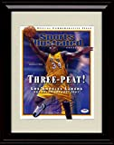 Framed Shaquille O'Neal Lakers Champions Sports Illustrated Autograph Replica Print - 2001-02 Champs!