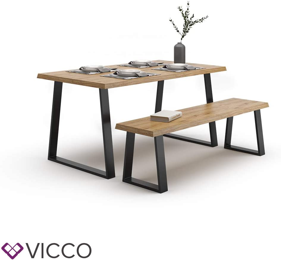 Vicco Loft Tischkufen Tischbeine DIY Tischgestell Couchtisch Esstisch M/öbelf/ü/ße Trapez - 42 cm