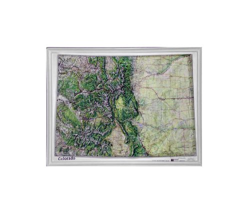 Colorado Natural Color Relief Map without Frame, 17