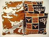 8 Texas Longhorns Cornhole Bean Bags Baggo Tailgate Toss Game Regulation Size Cp