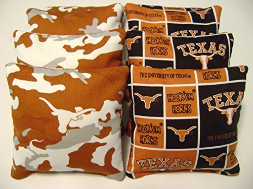 8 Texas Longhorns Cornhole Bean Bags Baggo Tailgate Toss Game Regulation Size Cp by Generic